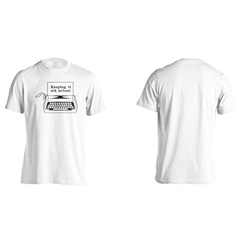 Halten Es Alte Schule Schwarz Herren T-Shirt k969m