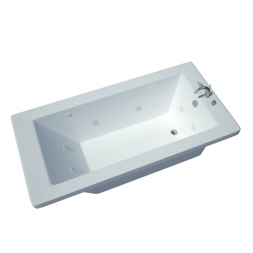 Atlantis Whirlpools 4260vnwl Venetian Rectangular Whirlpool Bathtub, 42 X 60, Left Drain , White