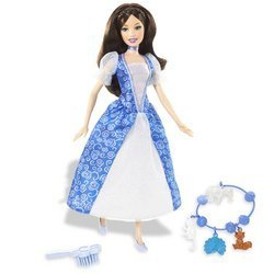 Mattel Barbie as The Island Princess Doll: Brunette with Blue Dress -