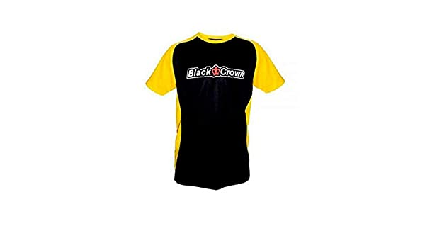 Black Crown Camiseta Stop Negro Amarillo: Amazon.es ...
