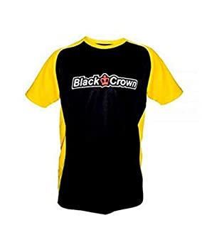 Black Crown Camiseta Stop Negro Amarillo: Amazon.es: Deportes y ...