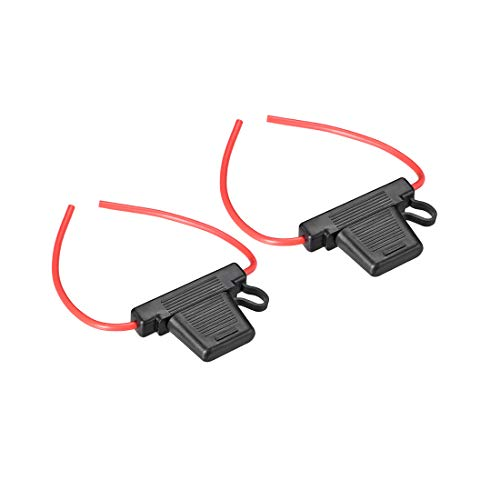 uxcell Fuse Holder In-line 10 Gauge AWG Automotive Car Waterproof Fuse Holder Black 2Pcs for MAXI Fuse