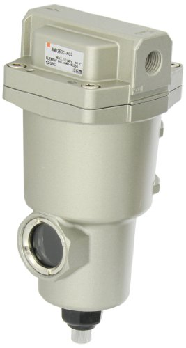 SMC AMD250C-N02 Micro Mist Separator Compressed Air Filter, Manual Drain, 0.01 micron, 1/4'' NPT by SMC