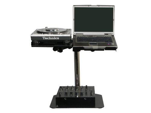 Odyssey LUNISPDB L-Evation Universal Laptop/Gear And Pioneer Cdj-100 Plate Stand With Double Arm Package