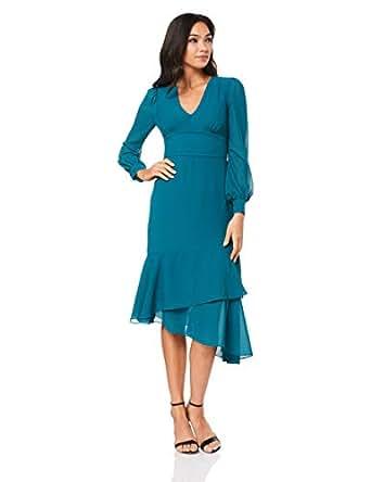 Cooper St Women's Coastal Long Sleeve Midi Dress, Teal, 10
