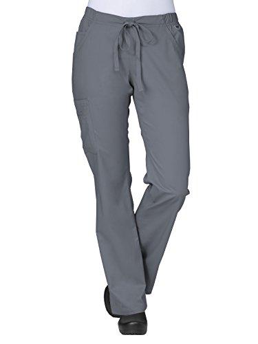 Maevn Women's Straight Leg Cargo Pants(Pewter, X-Large)