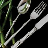 (Ricci 10122 Bamboo Stainless Steel Dinner Fork,)
