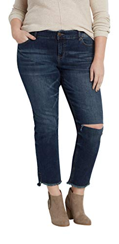 maurices Women's Denimflex Cropped Jegging - Plus Size Dark Wash from maurices