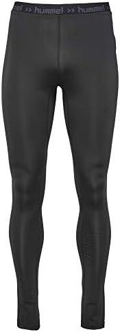 Hummel Sportunterhose lang - FIRST PERFORMANCE LONG TIGHTS - Trainingshose in Schwarz - Funktionshose Herren hohe Bewegungsfreiheit - Baselayer atmungsaktiv