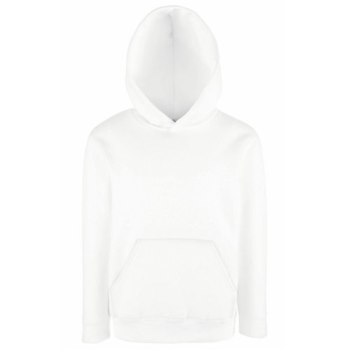 Fruit of the Loom Childrens Unisex Hooded Sweatshirt/Hoodie (12-13) (White)