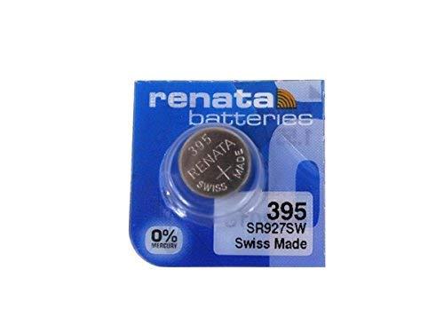 Renata Watch Battery - Renata 395 Button Cell watch battery, 5 Batteries
