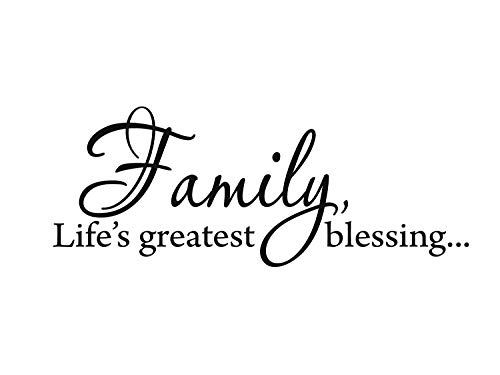 CrazyWEN-Sticker-Family, Life's Greatest Blessing Wall Decal Inspirational Quote Family Wall Art