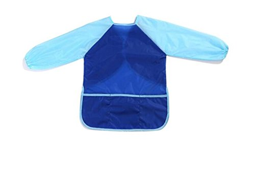 Gperw Dura qualità d'uso Grembiule per bambini Grembiule impermeabile grembiule da lavoro (blu)