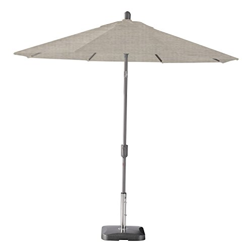Secret Garden Home Goods Pismo Dawn 9ft Round Premium Push Tilt Market Umbrella (Starring Gray, Sunbrella- Cast Silver)