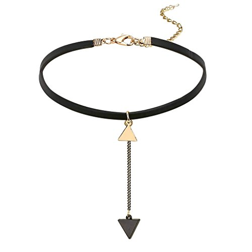 [Aooaz Choker Tassel Pendant Necklace For Women Stretch Black Lace Leather Tattoo Gothic Retro] (Gypsy Costume Couple)