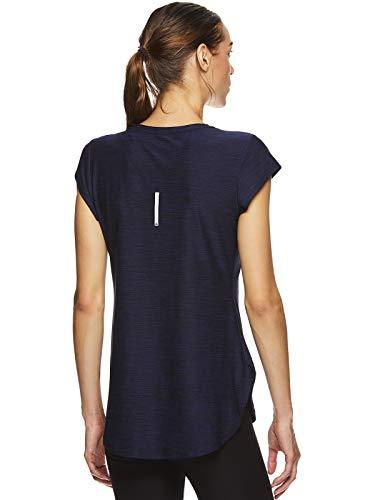 Reebok Women's Legend Performance Short Sleeve T-Shirt with Polyspan Fabric - Aged Blue Heather, X-Small by Reebok (Image #3)
