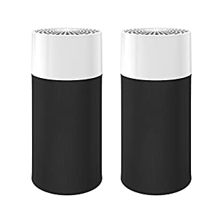 Blueair Blue Pure 411 Air Purifier (2 pack) 3 Stage with Two Washable Pre-Filters, Particle, Carbon Filter, Captures Allergens, Viruses, Odors, Smoke, Mold, Dust, Germs, Pets, Smokers, Small Room
