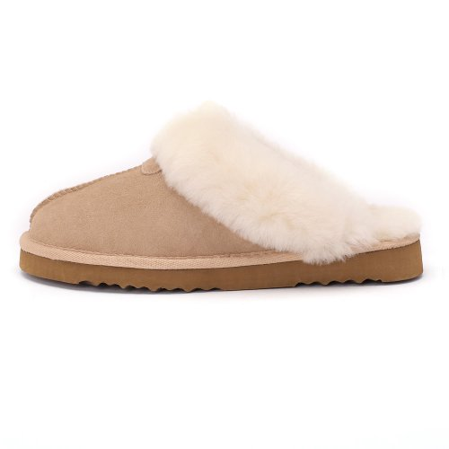Sheep Touch Womens Classic Twin-Face Sheepskin Slippers Sand 05ebHnPztr