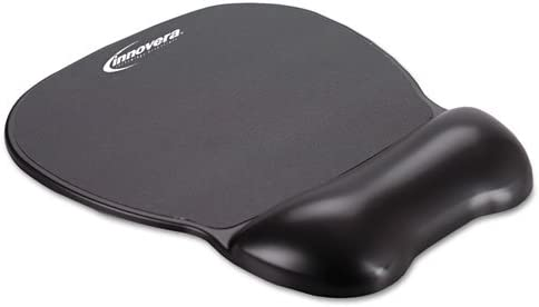 Innovera Gel Mouse Pad with Wrist Rest Inches Black 9 X 7.5 Nonskid Base 51450