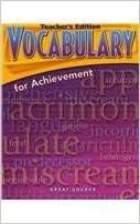 Vocabulary for Achievement, 4th Course, Grade 10: margaret
