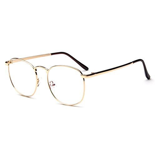 Smile Tomorrow Unisex Metal Retro Round Fashion Frame Glass(K2)