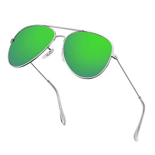 Polarized Aviator Sunglasses for Men Metal Mens Sunglasses Driving Unisex Classic Sun Glasses for Men/Women ()