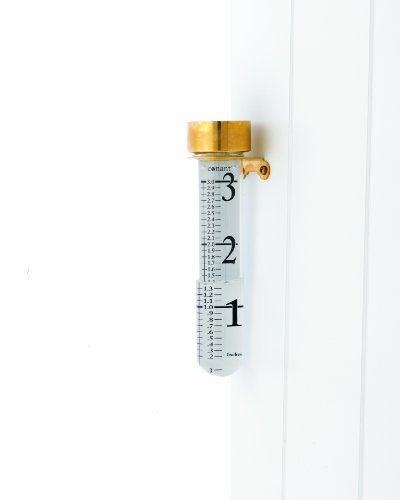 CONANT VRG6LFB Vermont Grande View Thermometer, Living Finish Brass (Brass Gauge Rain)