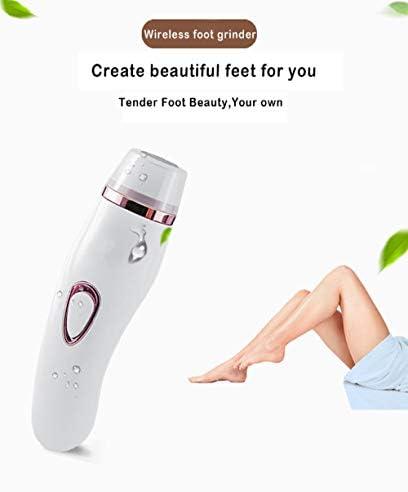 Elektrischer Fußschleifer, elektrische Feilenfußpediküre, mit Staubschutz, einstellbare Geschwindigkeit, mit 3 Arten von Schleifkopf, USB-Aufladung