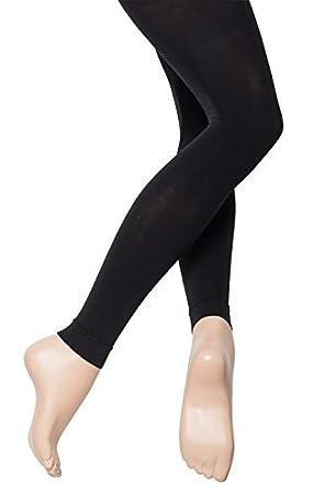 675347c16d3c4 Katz Dancewear Girls Ladies Black Footless Ankle Standard 60 Denier Ballet Dance  Tights (Ladies Small