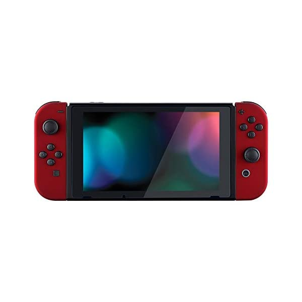 eXtremeRate Soft Touch Grip Red Joycon Handheld Controller Housing with Full Set Buttons, DIY Replacement Shell Case for Nintendo Switch Joy-Con – Console Shell NOT Included 7