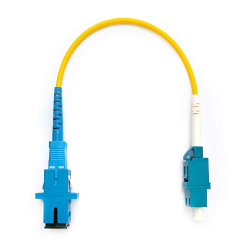 Fiber Optic Adapter, Karono LC to SC On-line Transfer Adapter Cable, Male & Female Mutual Transfer Singlemode 9/125 Simplex Fiber Optic Cable, Hybrid Connector Coupler Converter Dongle ()
