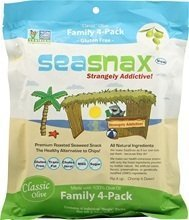 SeaSnax Classic Olive Family 4 Pack 8x 2.16 Oz by Seasnax