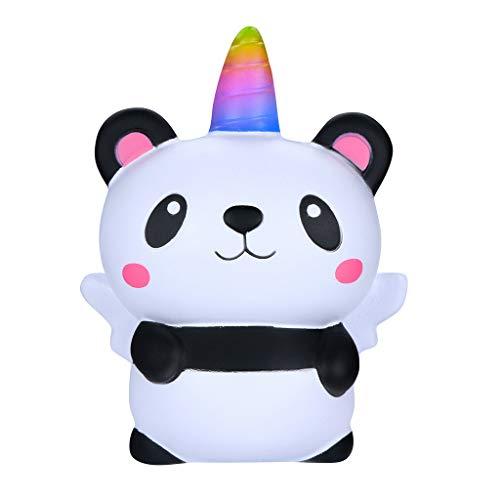 SFEHEO Squishies Kawaii Cartoon Panda Angel Slow Rising Cream Scented Stress Relief Toy ()