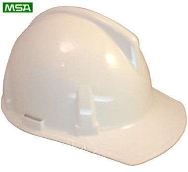 Topgard Protective Caps (MSA Safety 475385 Topgard Slotted Protective Cap with Fas-Trac Suspension, Standard, White)