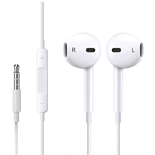 2 Pack Walking - iPhone Earphones,2Pack Headphones Earbuds with Microphone Stereo for Apple iPhone and More Android Smartphones (White)