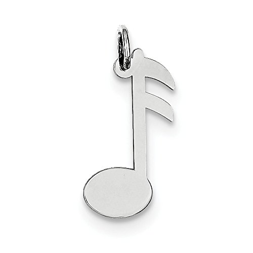 Sterling Silver Musical Note Polished Charm