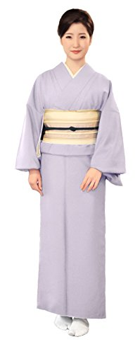 KYOETSU Women's Washable Unlined Kimono Hitoe (Medium(Japan size LL), Light grey) by KYOETSU
