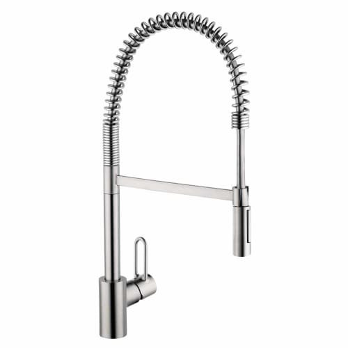 Hansgrohe 04700 Talis Loop Single Handle Semi-Pro Kitchen Faucet with Toggle Spr, Steel Optik by Hansgrohe