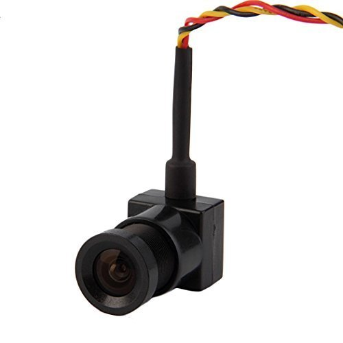Mini Wide Angle FPV Camera 700 TVL 3.6mm NTSC Recording for Quadcopter (Covert Camera Color Pinhole Mini)