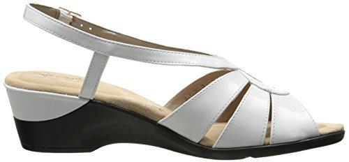 para de poliuretano US Paci 7 mujer M blanca vestir Sandalia patente de qxYtwSBXS