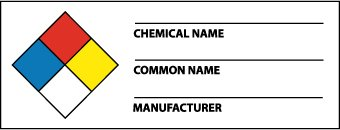 National Marker Corp. WOL8ALV NFPA Chemical Label, 1 1/2 Inch X 4 Inch, PS Vinyl, 500/Roll