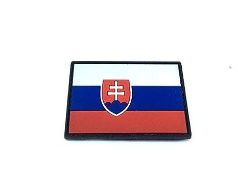 Bandera de Eslovaquia Airsoft Paintball Moral Parche de PVC