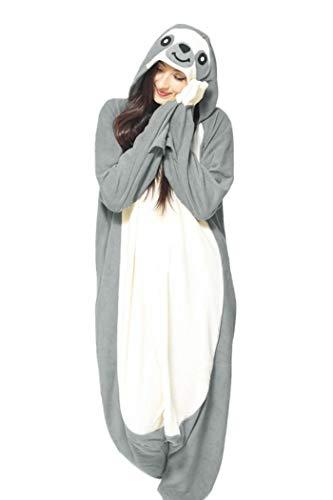 WOTOGOLD Animal Cosplay Costume Gray Sloth Adult Pajamas Gray,Large ()