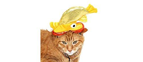 Goldfish Cat Dog Pet Costume Headwear Hat - One (Target Cat Costume)