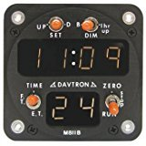 1 Pc, Chronometer/M811 Digital Clock With Flight Time Reset,Displays Universal Time, Local Time And Flight Time, 24 Hour Lt, 2 1/4 Internal Mount, 6 Digit Display, Nvis Green A Option