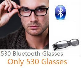 EDIMAEG 530 Bluetooth Glasses For mini wireless spy earpiece as A Full Hands free Talking Kit Really Glasses even can change lens (Only Glasses) by EDIMAEG-US
