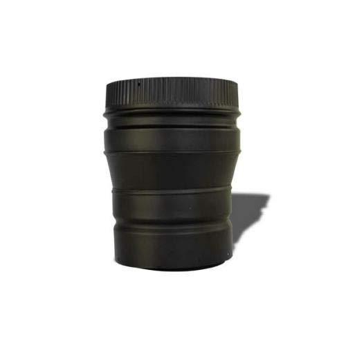 (Chimney 21180 Heat-Fab 22GA Black Stovepipe Reducer - 6 Inch Female-8 Inch Male)