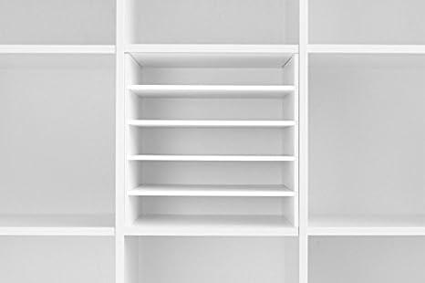 Post compartimento para estantería para Ikea Expedit – Estantería (Color Blanco)