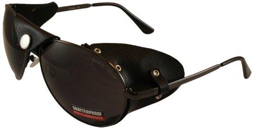 Global Vision Aviator Sunglasses Leather