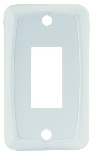 JR Products 12845 White Single Switch Face Plate